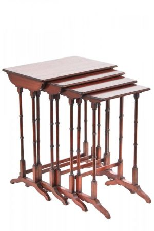 Edwardian Mahogany Quartetto Nest Of Tables