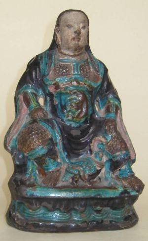 Ming Dynasty(1368-1644) Porcelain Emperor Statue