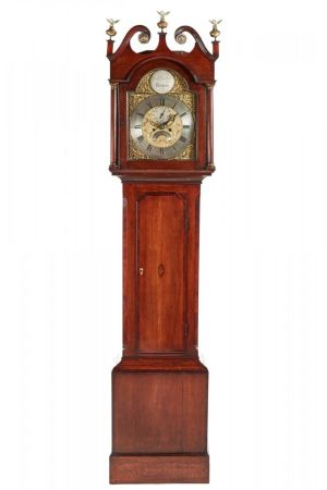 George Iii Brass Face Oak Longcase Clock