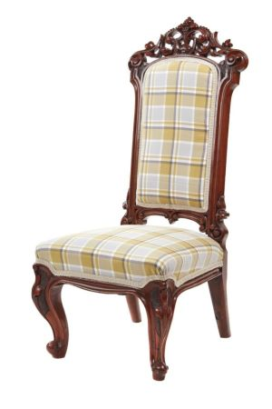 Outstanding Quality Victorian Carved Walnut Nursing Chair