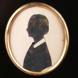 Antique Silhouette Of A Young Lady