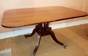 Rio Rosewood Regency Period Brass Inlaid Breakfast Table