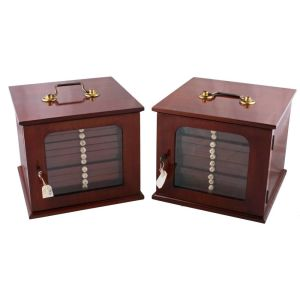 Pair Of Coin Collector's Cabinets