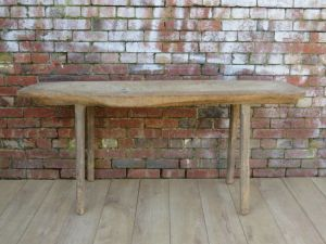 19th Century Hungarian Butchers Block Console Table
