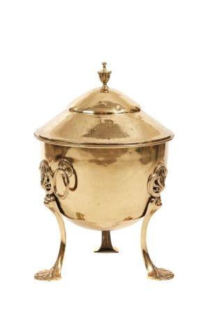 Stylish Brass Art Nouveau Coal Bin C.1900