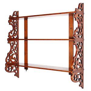 Victorian Mahogany Wall Shelves