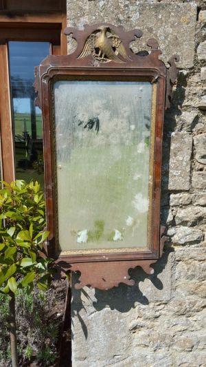 Antique 'ho Ho Bird' Fretwork Mirror