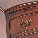Walnut Serpentine Front Chest Of Drawers