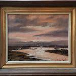 "Oil On Board ""sunset, Burnham Overy Staithe"""