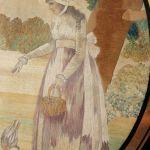Silk Embroidery & Watercolour Picture