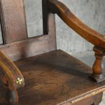 18th Century French Oak Hall Chair