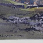 Original Watercolour, December Light In Langstrothdale By E C Simpson
