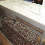 Antique Marble Top Parcel Giltwood Painted Side Table