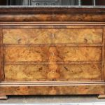 Walnut Commode With Marble Top