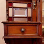 Late 19th Century Pitch Pine Arts And Crafts Dressing Table