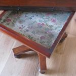 Early Victorian Mahogany Fold-over Top Pedestal Tea Table