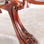 Fantastic Victorian Carved Walnut Cameo Back Set