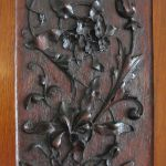 Late Victorian Walnut Wall-hung Cabinet With Decoratively Carved Door Panels