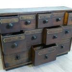 Antique Angling Shop Bank Of Drawers