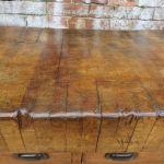 Antique Butchers Block On Stand