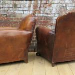 Antique Club Chairs In Leather