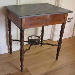 19thc Mahogany Side Table With Slate Top