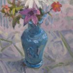Signed Original Oil On Board The Blue Vase By Robert William Begg