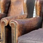 Pair Of Wingback Club Chairs