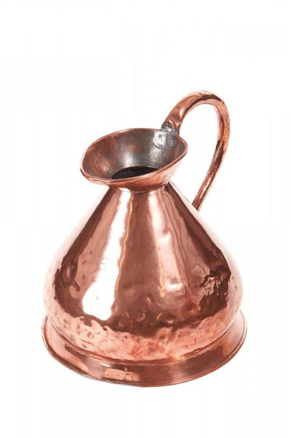 Large Antique Copper Harvest Measure