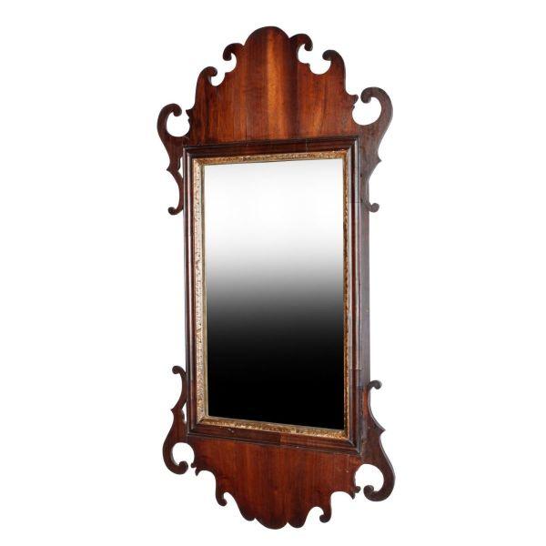 Chippendale Mahogany Wall Mirror