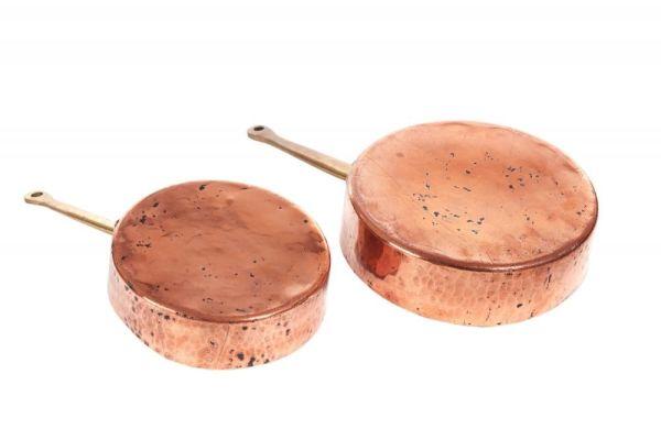Fine Quality Pair Of Copper Pans