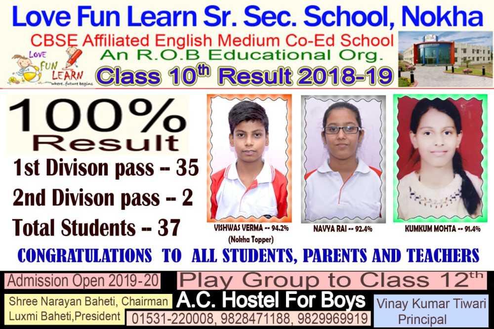 LOVE FUN LEARN SCHOOL | best school in nokha