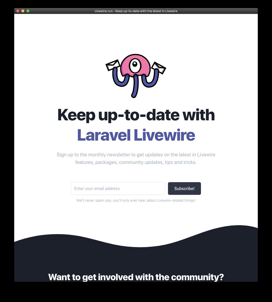 Livewire.run Website