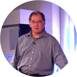 A portrait photo of David West