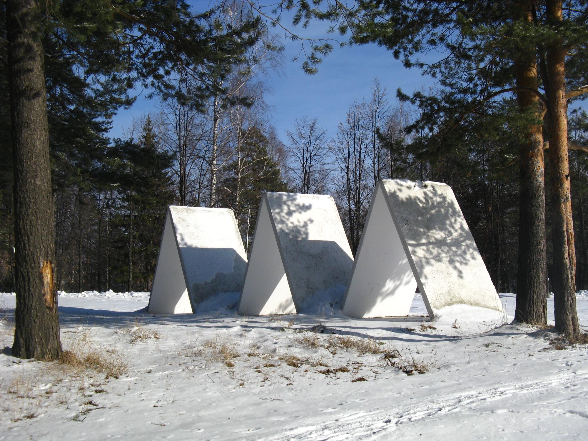 Первые палатки в Качканаре. Фото: Удинцев Т.А.