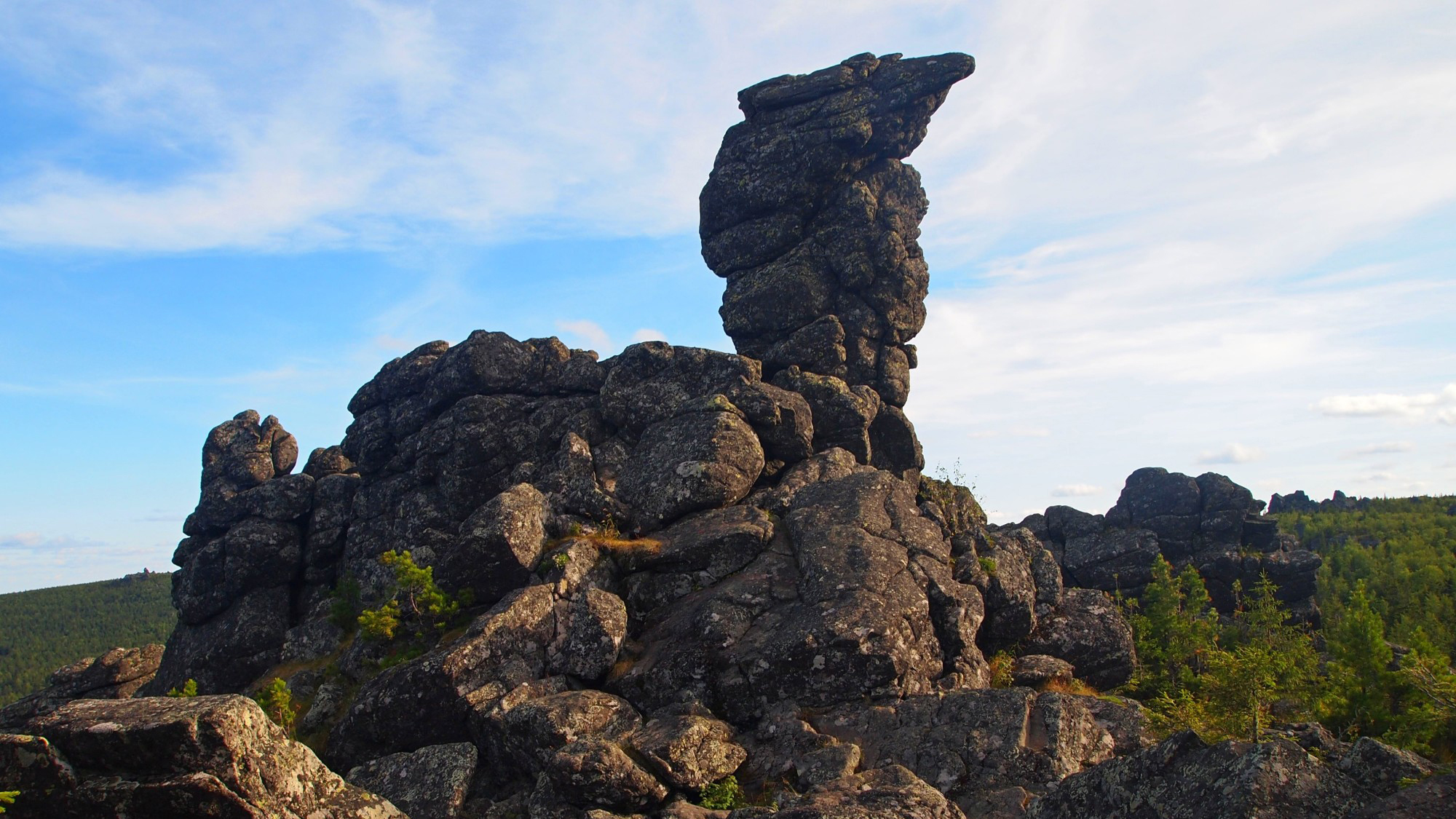 Гора Качканар в Качканаре. Скала «верблюд»