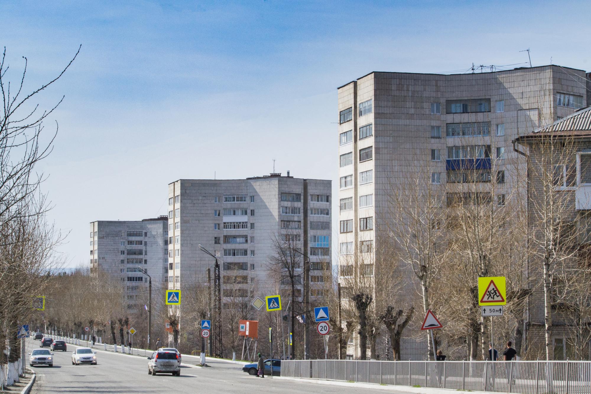 12-этажные дома в Качканаре. Фото: Полыскалов А.А.