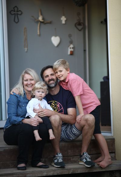 Die Botha family at home during lockdown level 4.