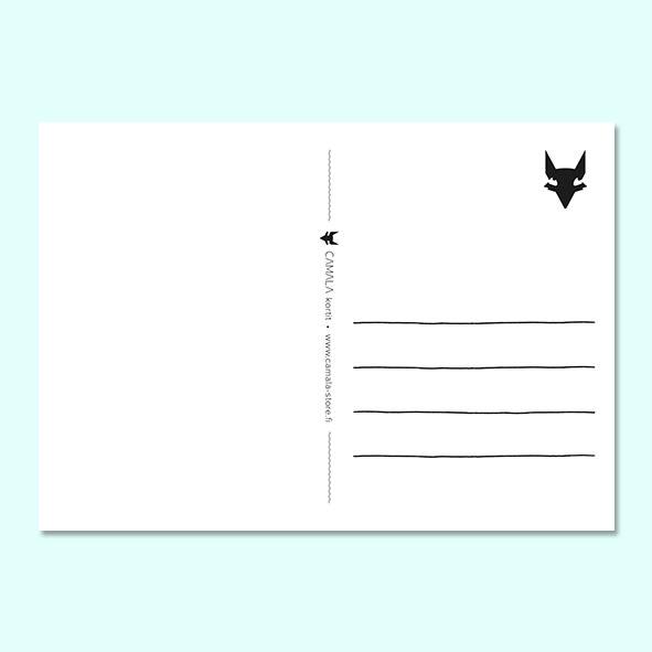 tausta tekstikortti postikortti
