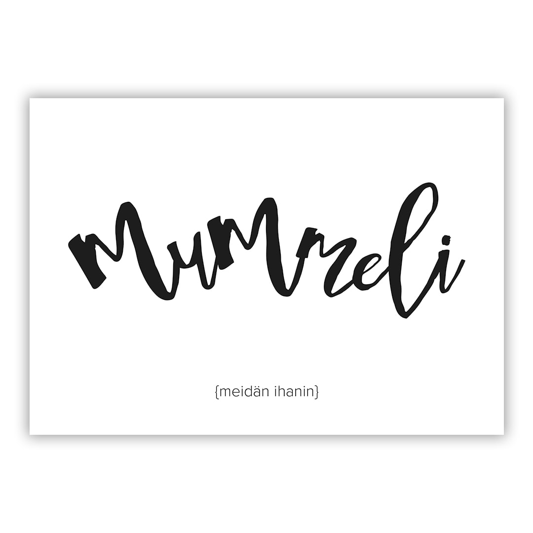 mummeli tekstikortti postikortti