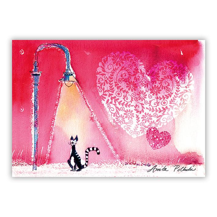 kissa odottelee treffiseuraa postikortti