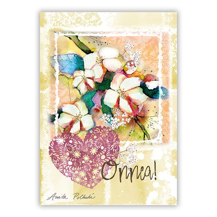 omenankuvat ja onnittelu postikortti