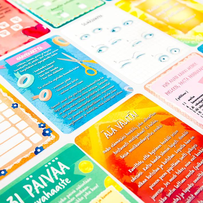 Intoa ihan uutta toiminnalliset kortit