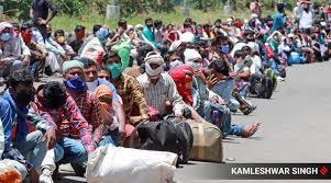 देश के 54 सबसे ज्यादा प्रवासी मज़दूरों के जिलों मे 20 जिले बिहार के