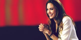 Angelina Jolie laughing