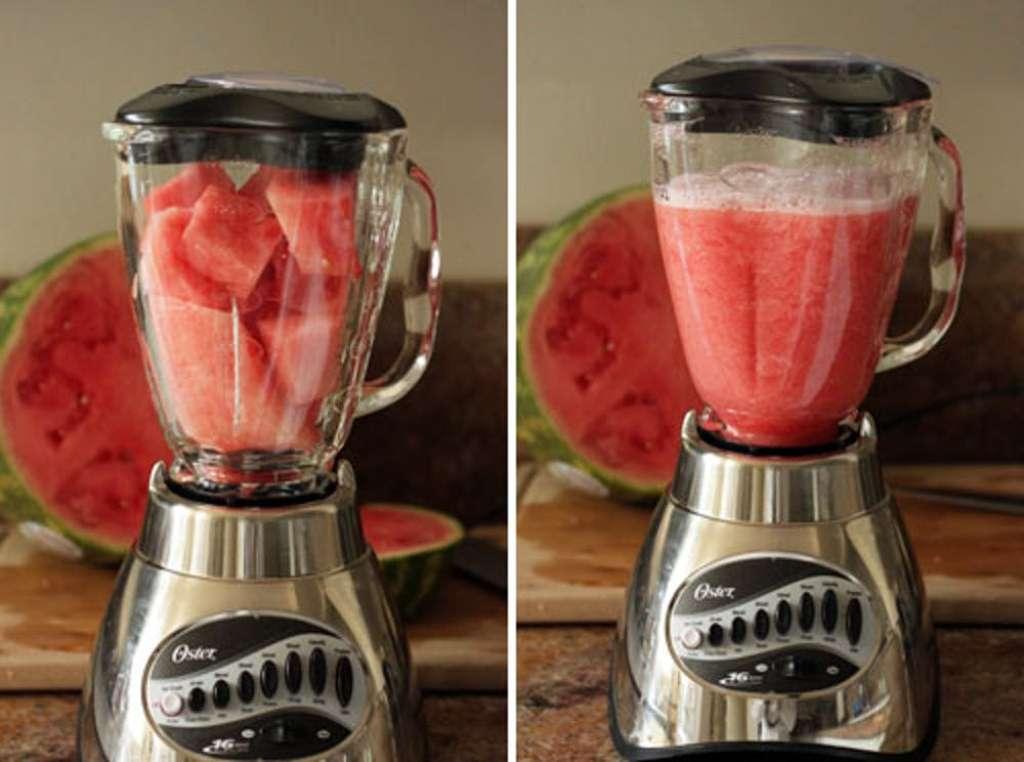 Watermelon in a blender
