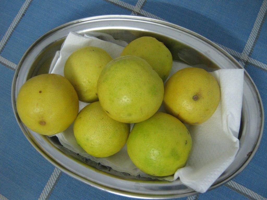 Lemons on the kitchen counter