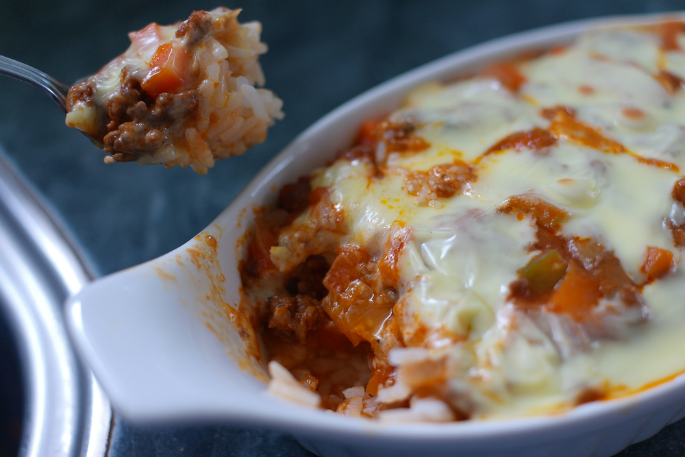 Rice overloaded with cheese