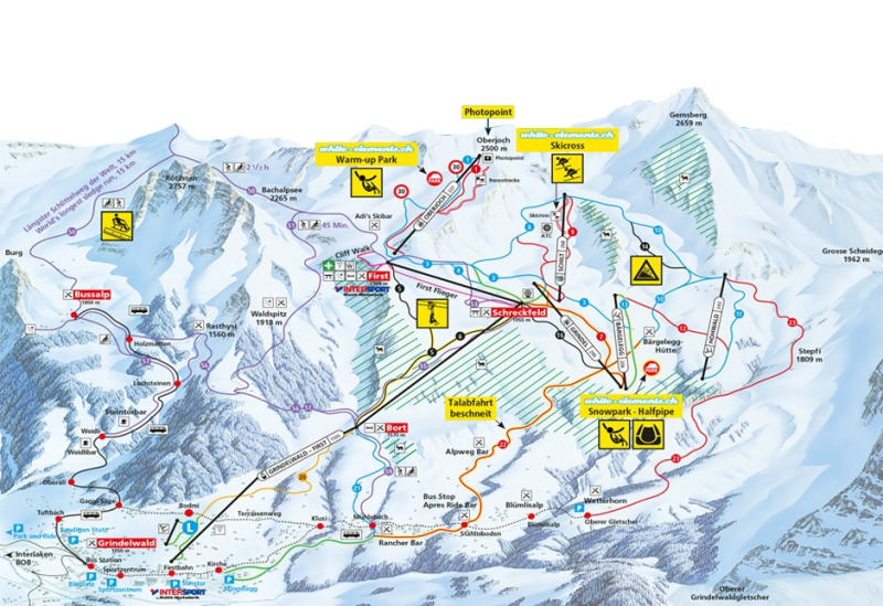 GrindelwaldWengen Trail Map Liftopia