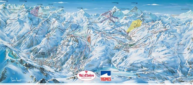 Tignes Trail Map Liftopia